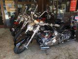 展示されたバイク