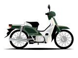 緑の原動機付自転車