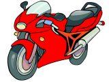 レッドカラーバイク